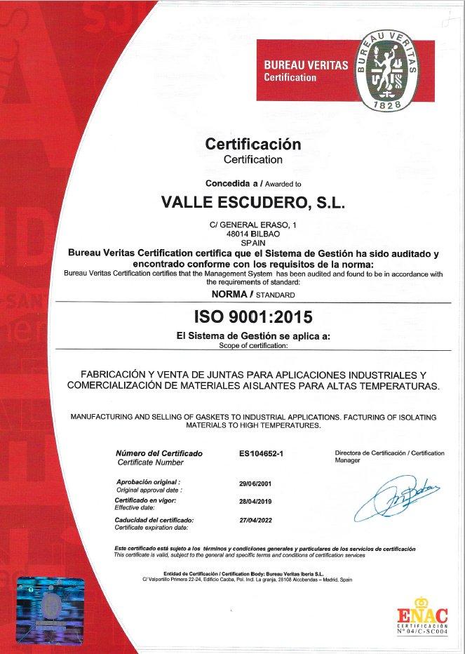 Zertifikate ISO 9001